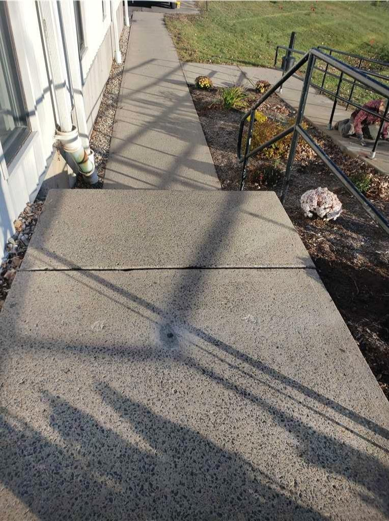 Matt Clark's Northern Basement Systems fixes a side walk with Polylevel injection in Plattsburgh, New York - After Photo