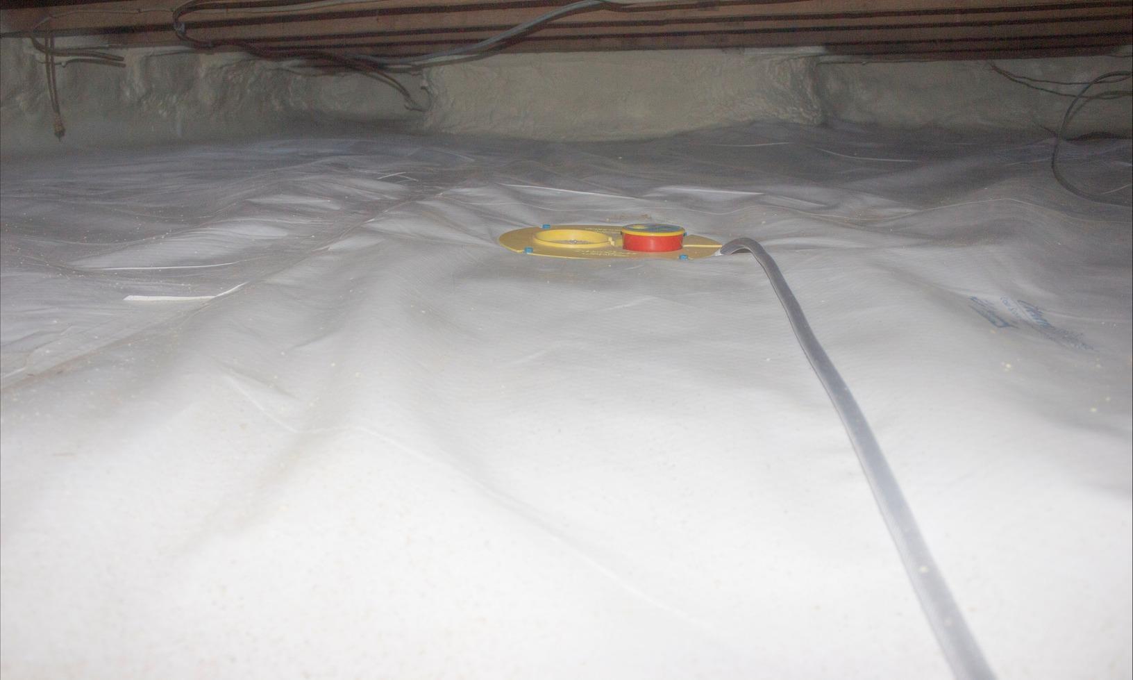 Crawlspace Encapsulation and Weatherizing in Claremont, New Hampshire. - After Photo