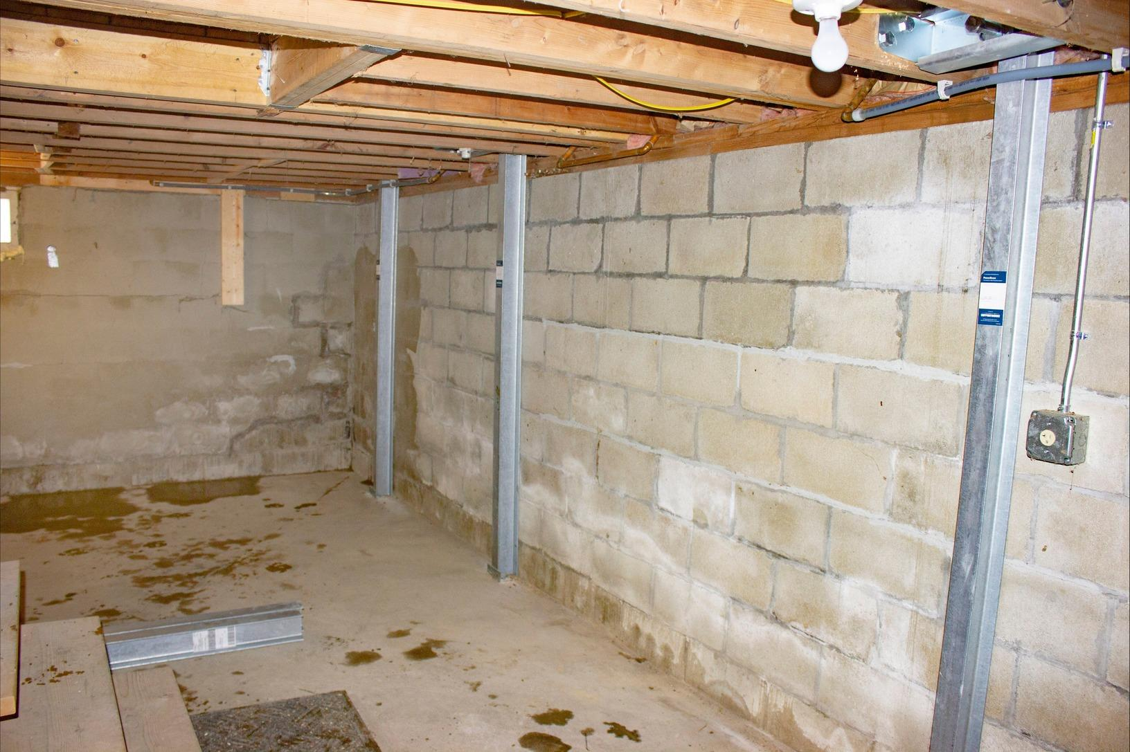 Basement Wall Problems solved in Middlebury, Vermont. - After Photo