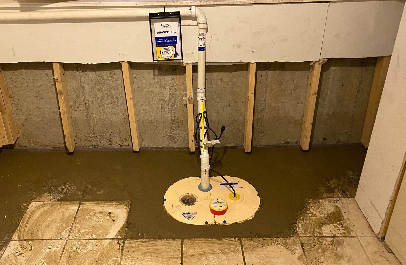 Basement Waterproofing in Shaftsbury, Vermont, by Matt Clark's Northern Basement Systems. - After Photo