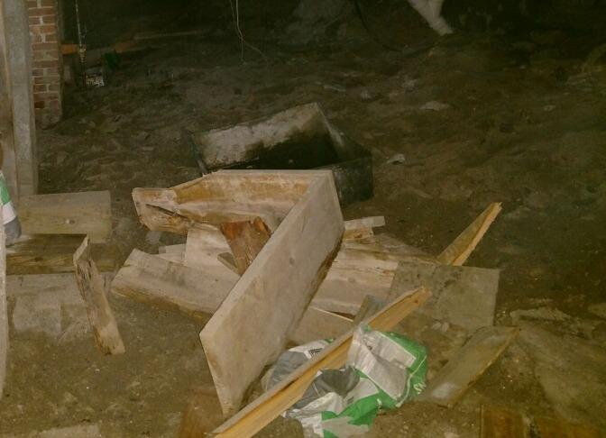 Crawlspace Repair in Bakersfield, Vermont, with Matt Clark's Northern Basement Systems. - Before Photo