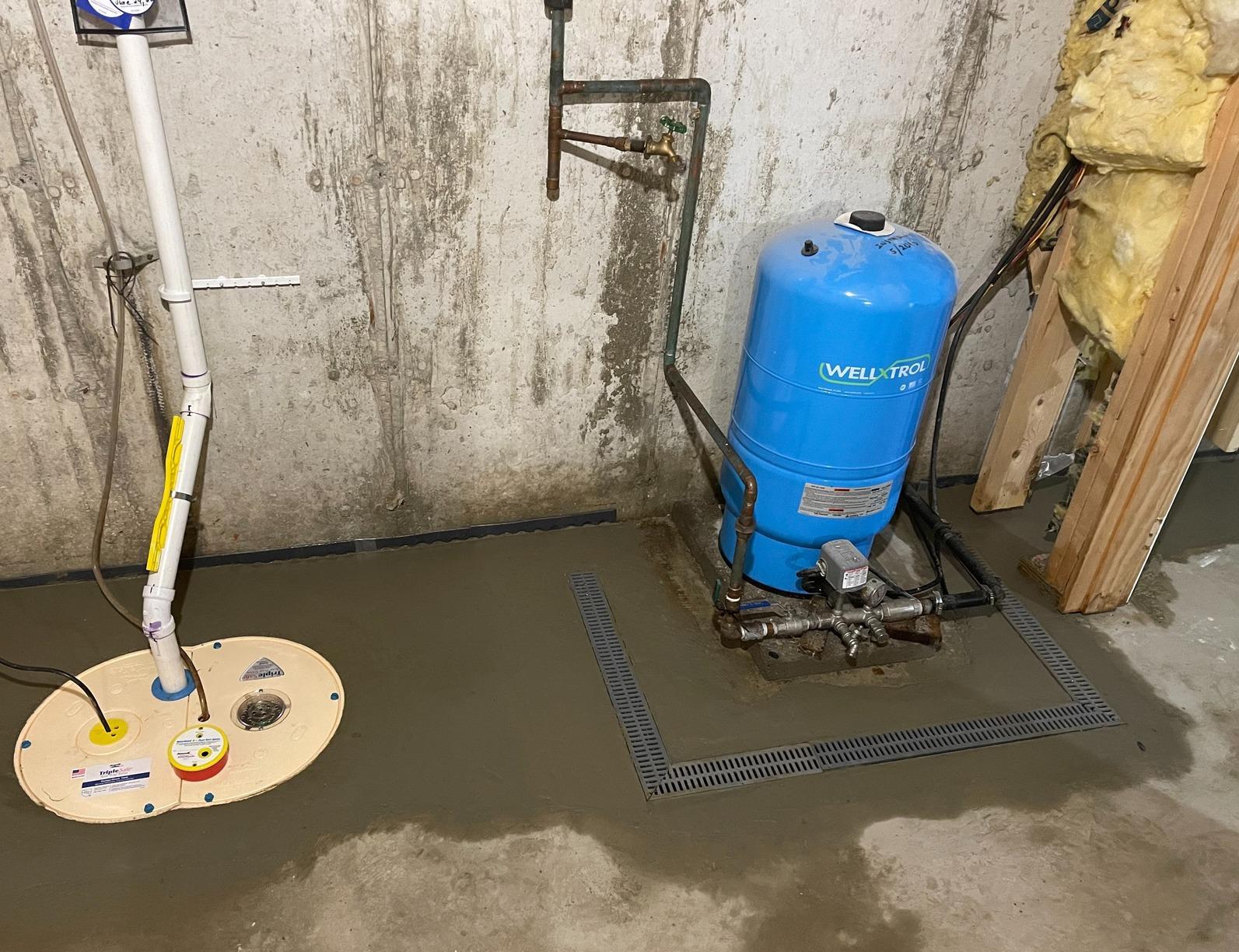 Basement Waterproofing in Arlington, Vermont, by Matt Clark's Northern Basement Systems. - After Photo