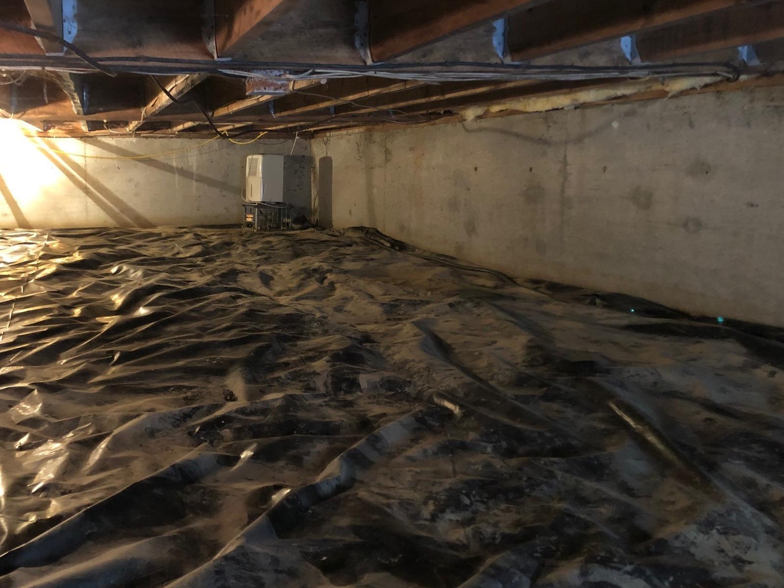 Crawlspace Waterproofing & Winterization in Keene, New Hampshire, by Matt Clark's Northern Basement Systems. - Before Photo