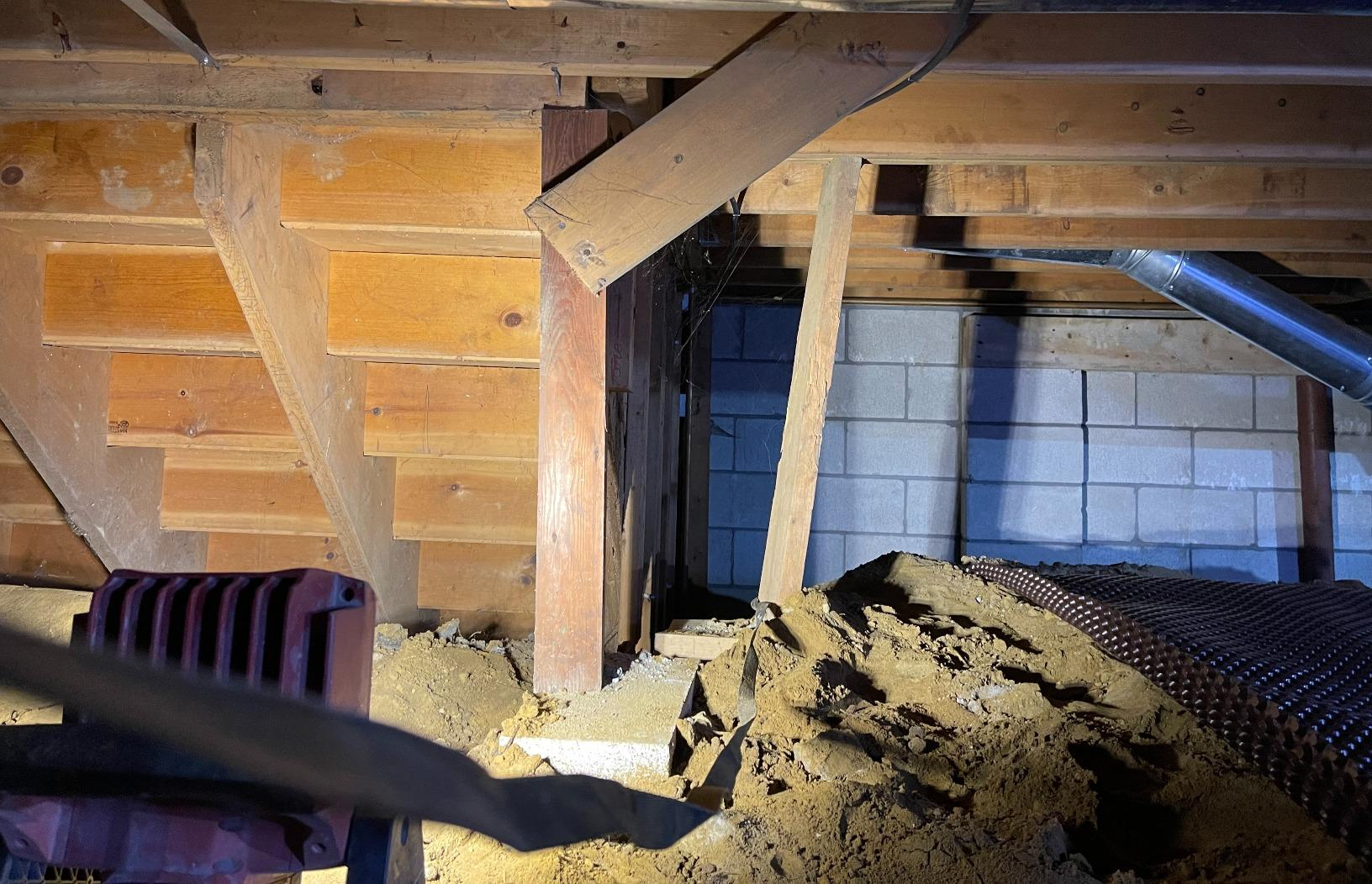 Floor Support in Keene, New Hampshire, by Matt Clark's Northern Basement Systems. - Before Photo