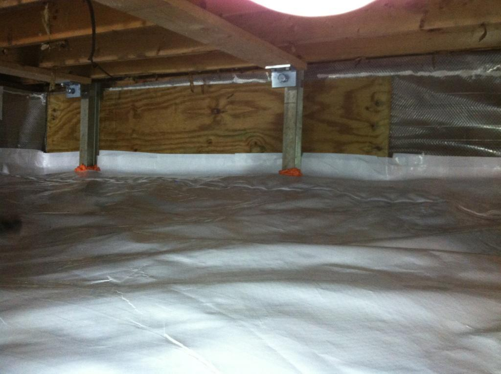Wet crawl space transformed into dry useable space! - After Photo