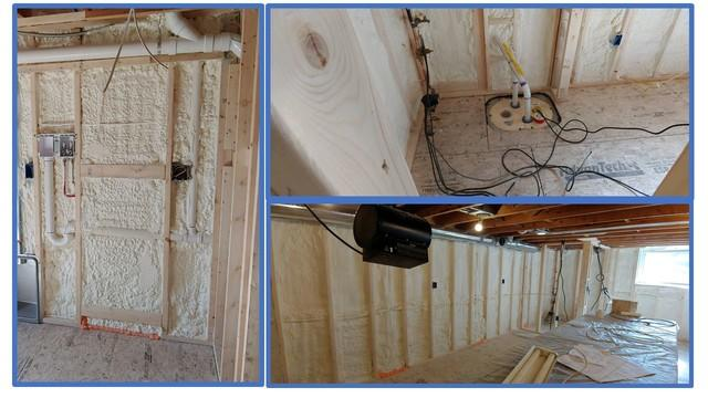 Matt Clark's Northern Basement System Water Proofs & Spray Foam Insulates a home in Colchester, Vermont