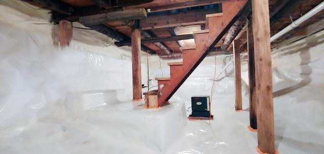 Matt Clark's Northern Basement Systems turns a Nasty Crawl Space into a Useable space in Morristown, Vermont