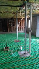 Foundation Support and Radiant Heat in Woodstock, Vermont