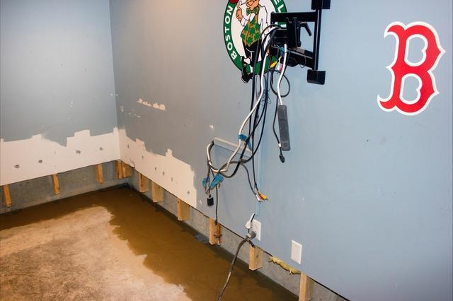 Matt Clark's Northern Basement Systems Waterproofs a Basement in Shelburne, Vermont.