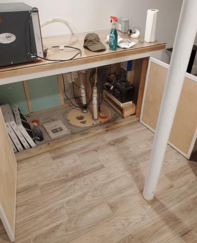 Matt Clark's Northern Basement Systems waterproofs a basement in Franklin, New Hampshire.