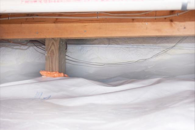 Crawl Space Weatherization in Northfield, Vermont