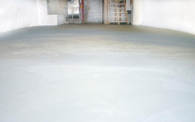 Clean Space and New Slab in Warren, Vermont.