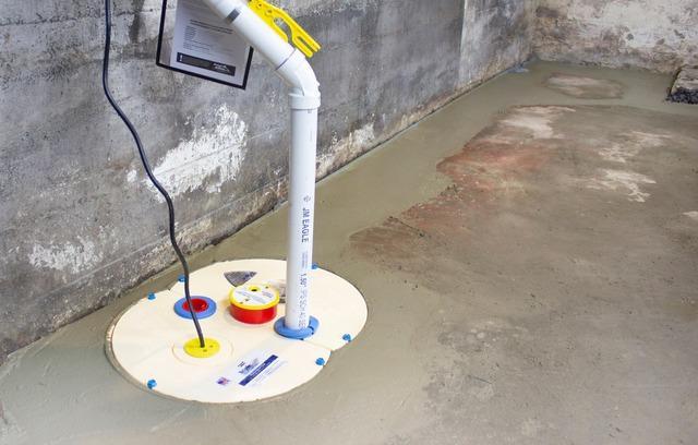 Waterproofing a Basement in Tilton, New Hampshire.