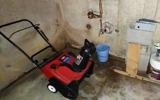 Waterproofing a basement in North Hero, Vermont.