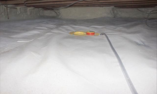 Crawlspace Encapsulation and Weatherizing in Claremont, New Hampshire.