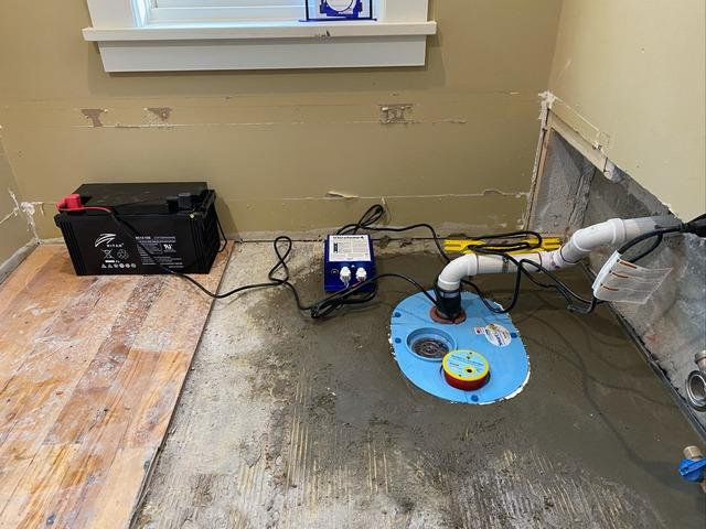 Waterproofing a Finished Basement in Northfield, Vermont. - After Photo