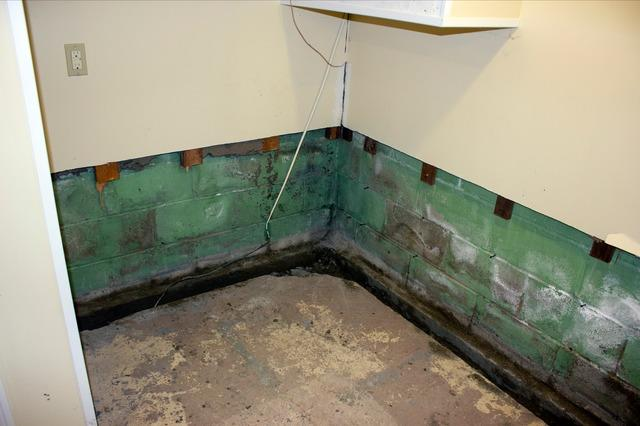 Wall Water Seepage in Essex, Vermont.