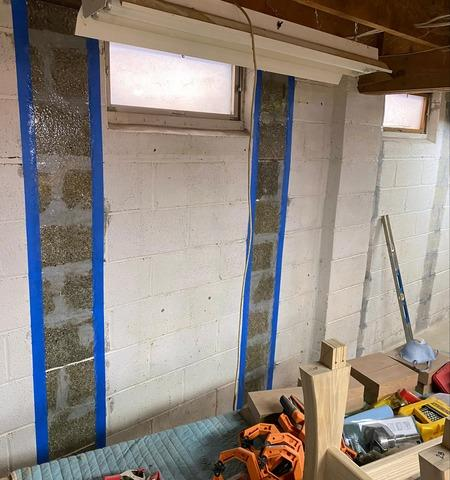 Foundation Wall Support Works in Burlington, Vermont, by Matt Clark's Northern Basement Systems.