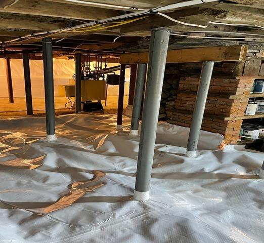Basement Waterproofing and Vapor Control in Reading, Vermont, by Matt Clark's Northern Basement Systems.