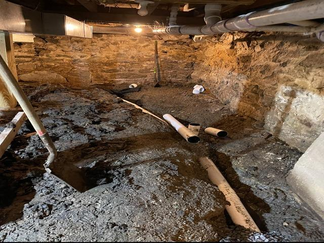 Crawlspace Waterproofing and Encapsulation in Hanover, New Hampshire, by Matt Clark's Northern Basement Systems.
