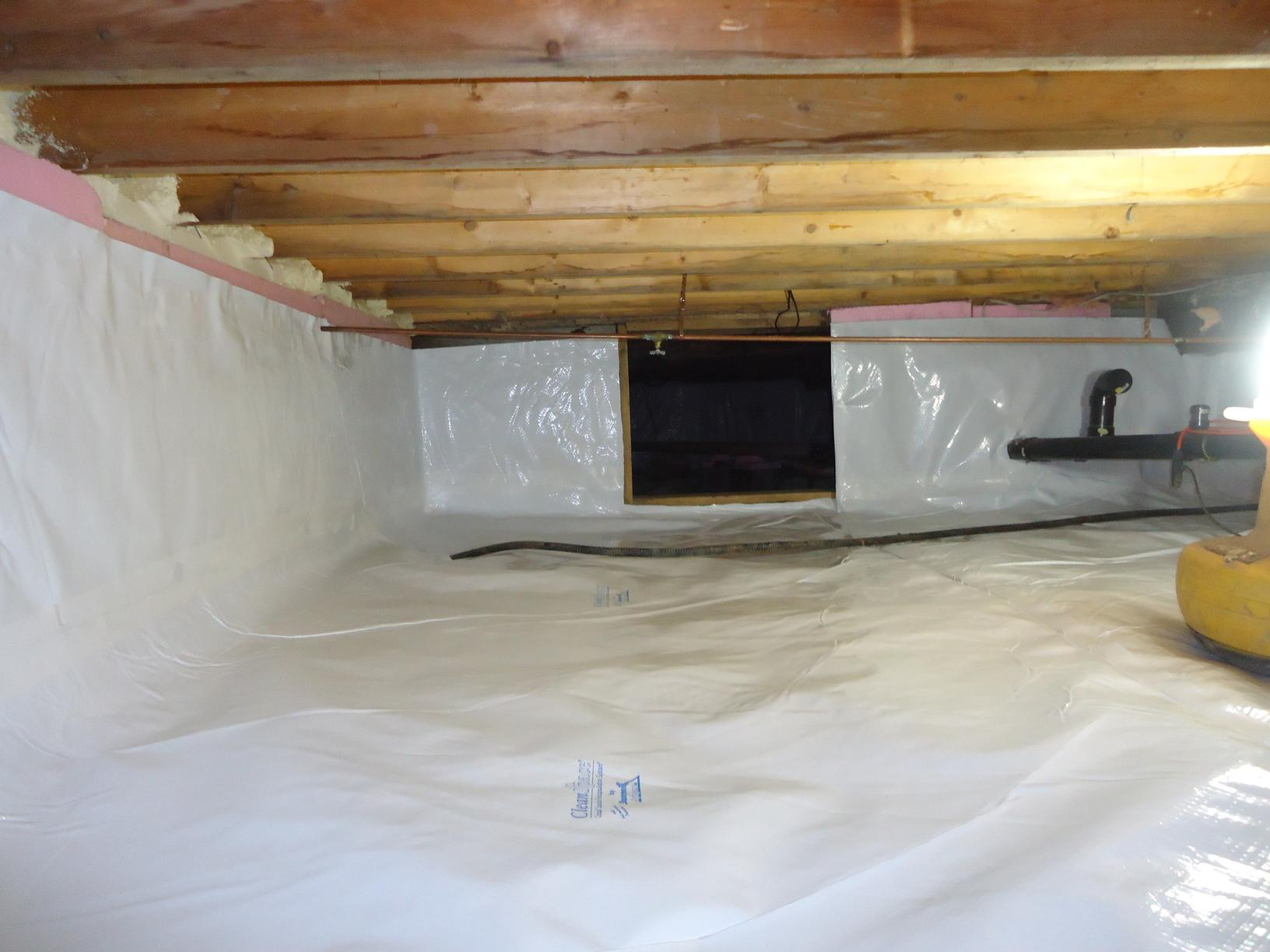 Crawlspace Encapsulation in South River, ON - After Photo