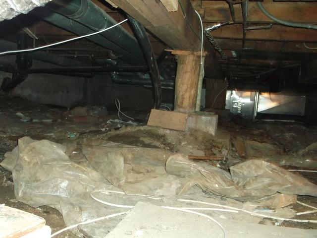 Sagging Floor and Moisture in Crawl Space in Sudbury, ON