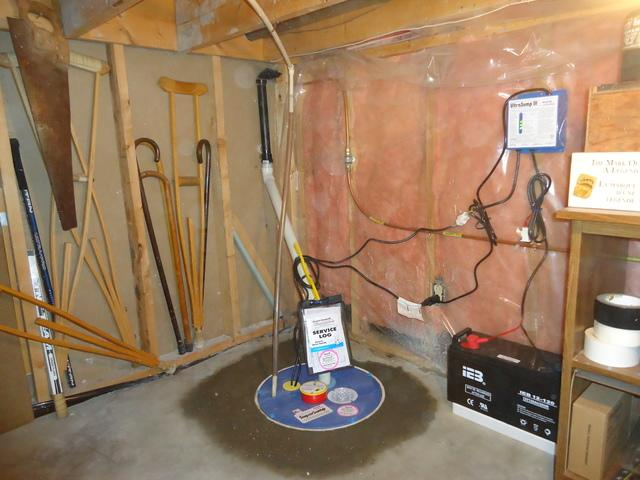 Old Sump Pump System Replaced in Azilda, ON Basement