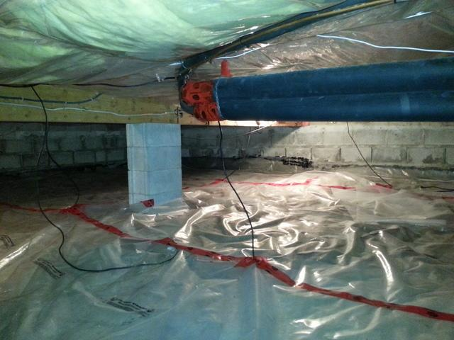 Old and Ineffective Crawl Space Lining Upgraded in Sudbury, ON