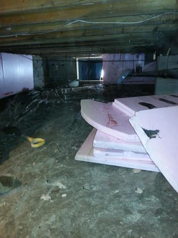 Crawlspace Encapsulation in South River, ON - Before Photo