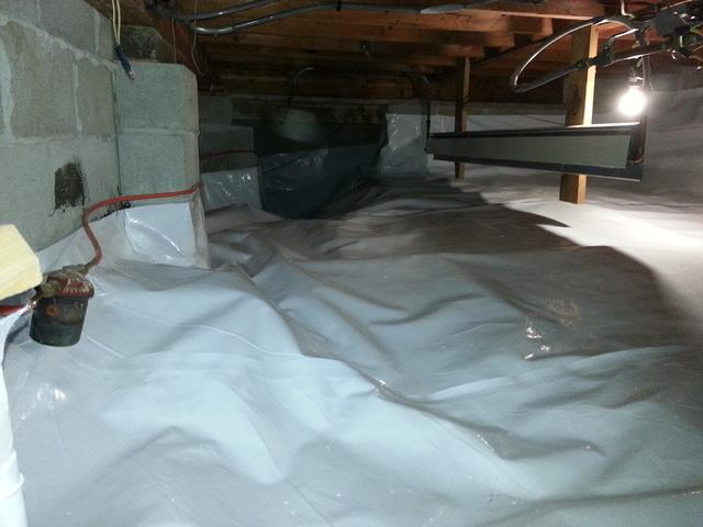 Dark & Dirty Crawlspace made Clean and Bright with CleanSpace in Corbeil ON