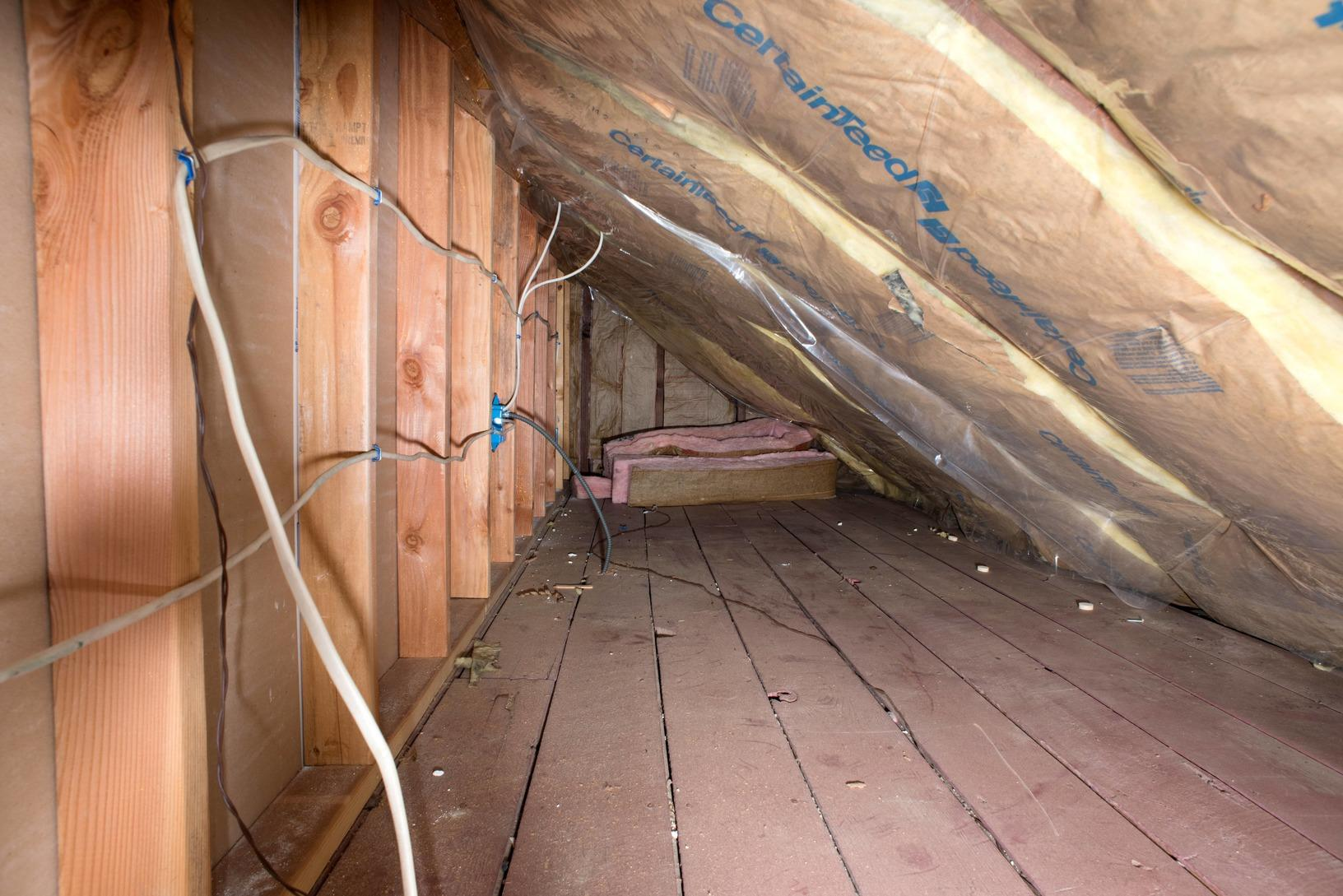 Attic Radiant Barrier - Before Photo