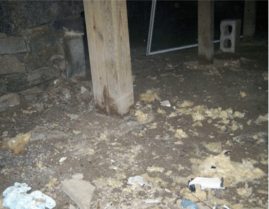 Crawl Space Insulation in Madison, CT - Before Photo