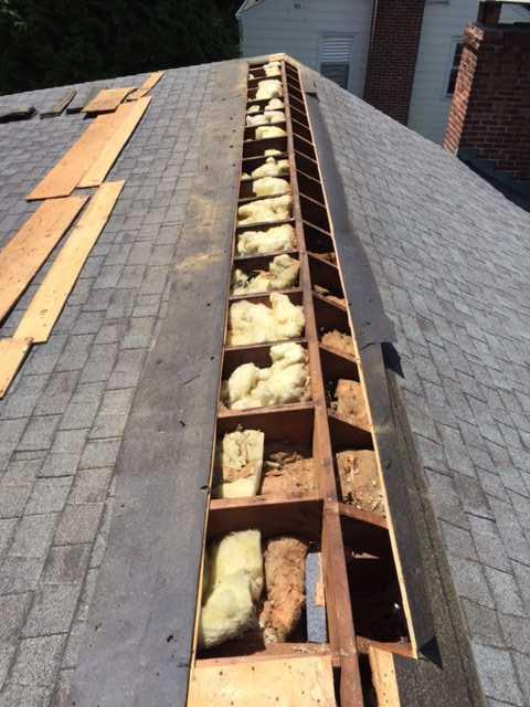 Dense Packed Cellulose in Fairfield, CT Roof - Before Photo