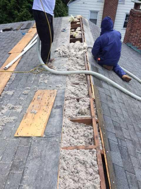 Dense Packed Cellulose in Fairfield, CT Roof - After Photo