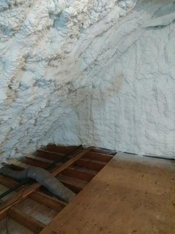 Spray Foam Insulation in New Canaan, CT Attic