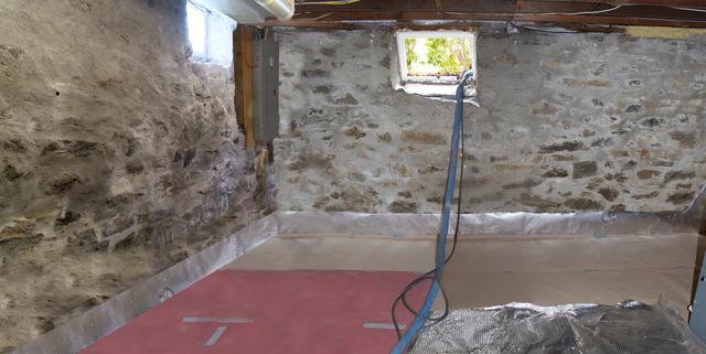 Spray Foam Insulation in Newtown, CT Stone Foundation
