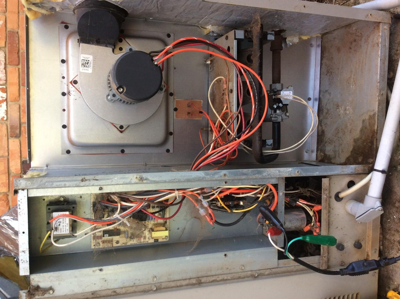 Heating System Precision Tune Up - Gastonia - Before Photo
