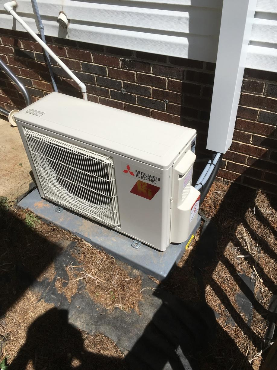 Installation of a ductless mini split in Lincolnton, NC - After Photo