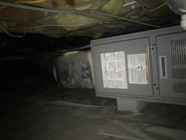 Air Conditioning and Heating System replacement in Stanley, NC - Before Photo