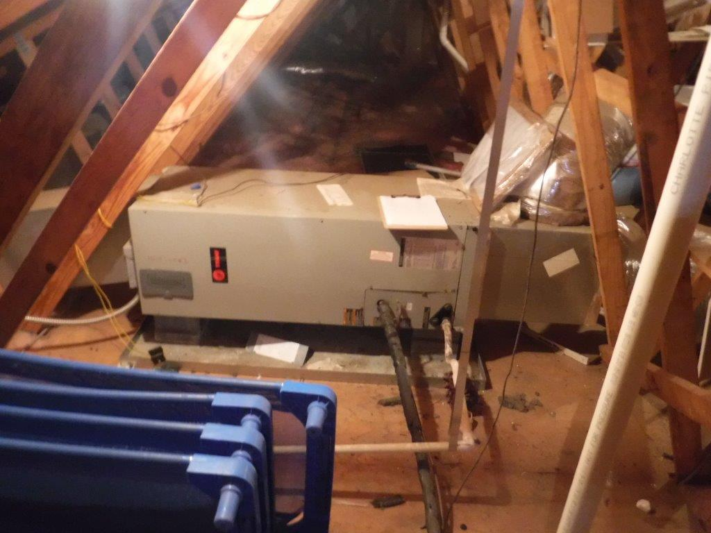 Heatpump replacement in Charlotte - Before Photo