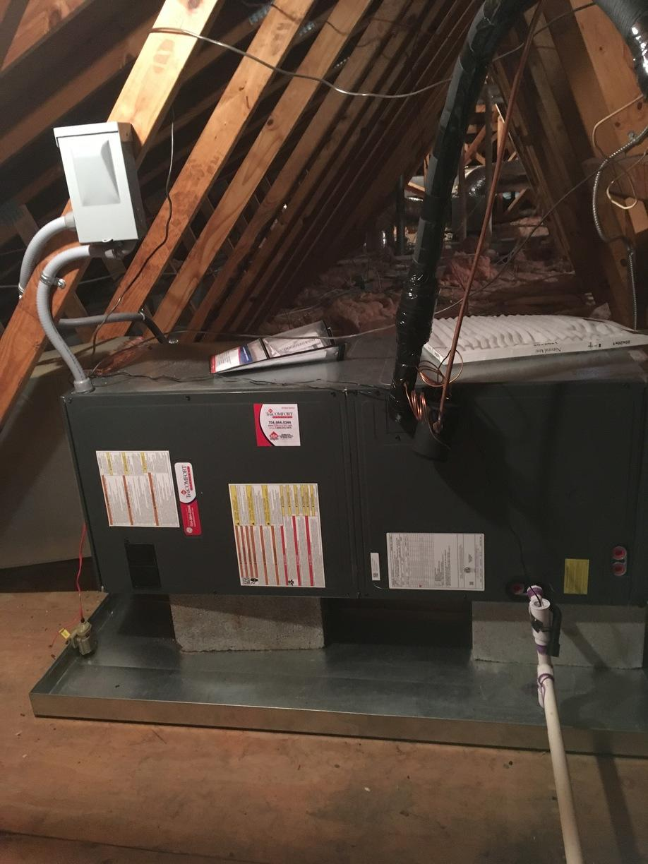 Heatpump replacement in Charlotte - After Photo