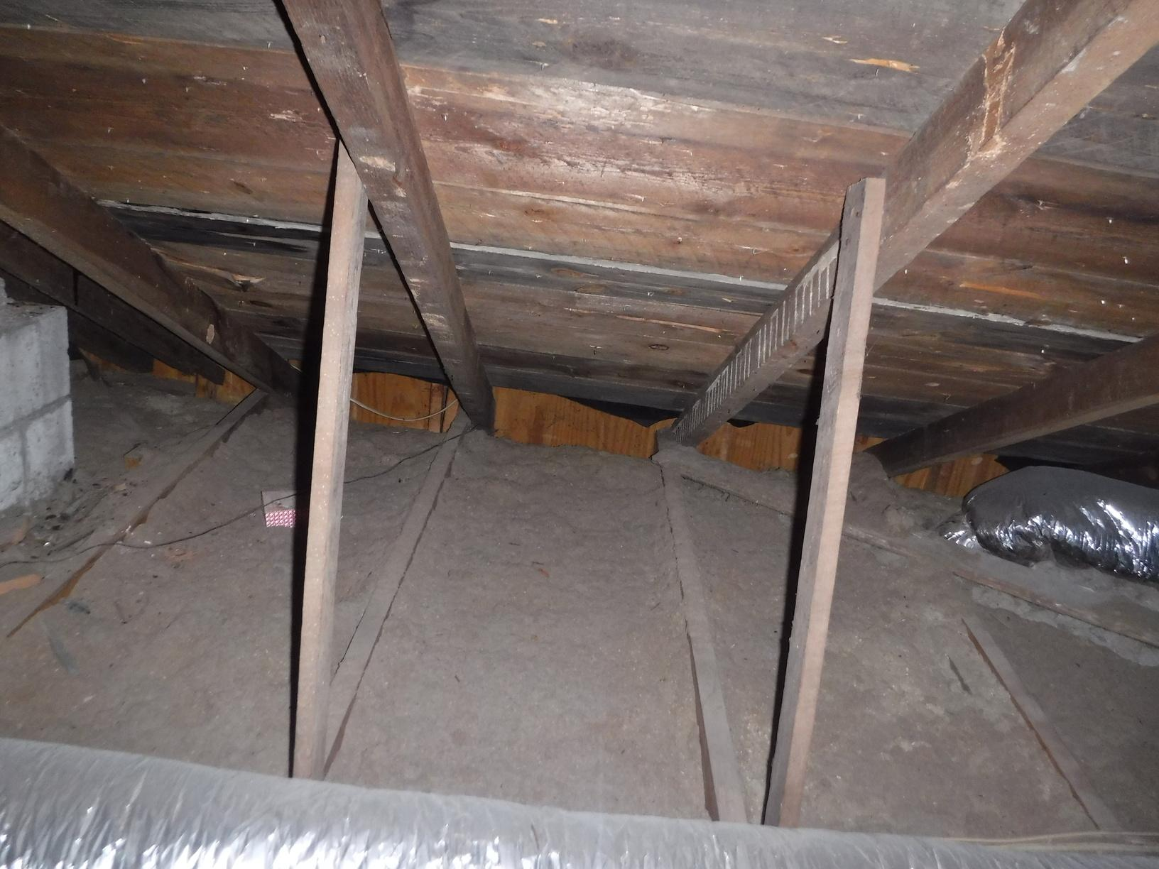 Attic Insulation upgrades in Charlotte NC - Before Photo