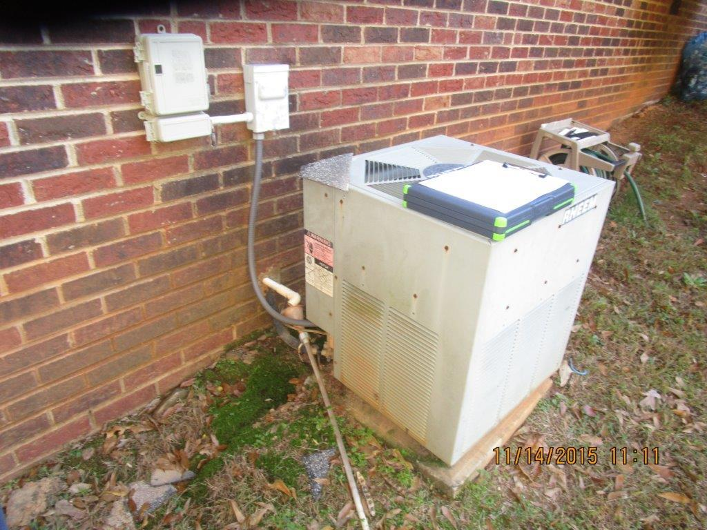 Heat Pump Replaced in Stanley, NC - Before Photo