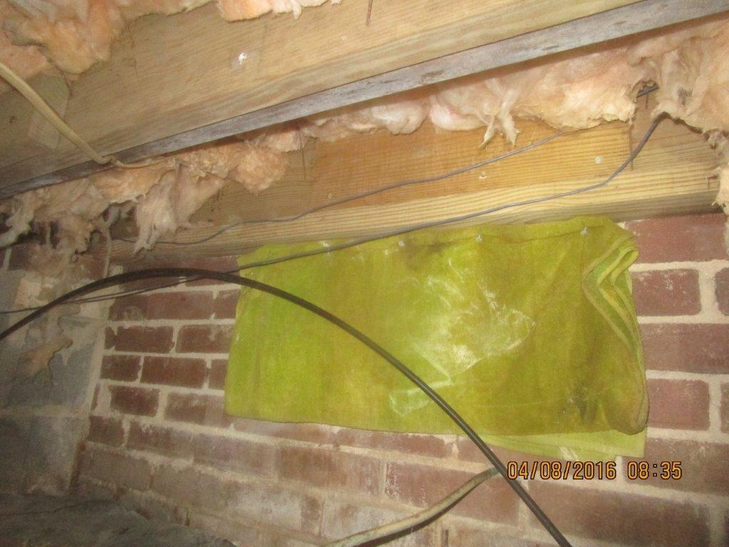 Crawl Space Sealing in Gastonia, NC - Before Photo