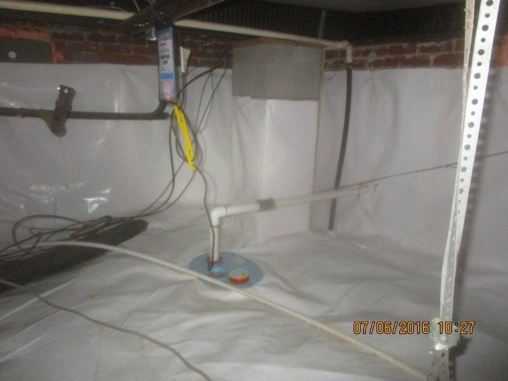 Crawl space encapsulation in Iron Station - After Photo