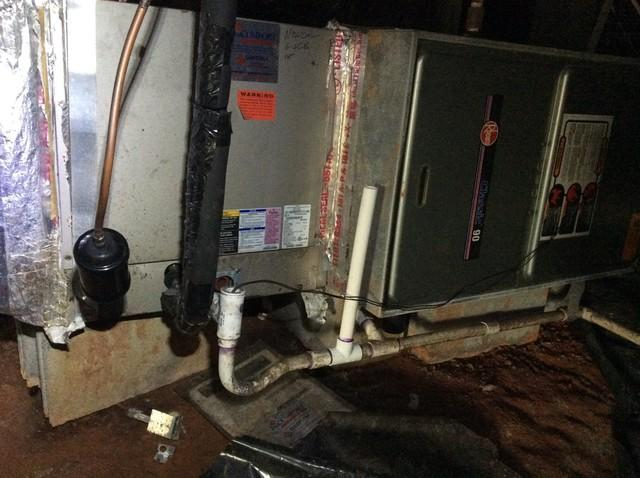 Furnace in crawl space
