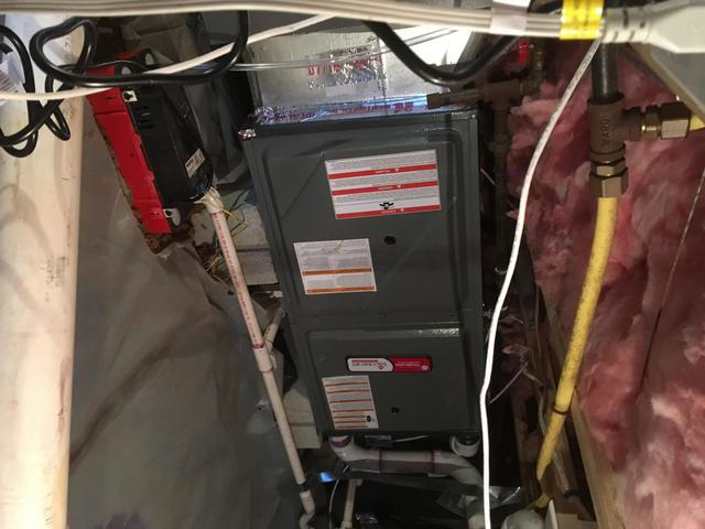 Furnace replacement in Huntersville
