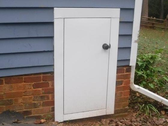 Crawl Space Door Before & After in Alexis, NC.