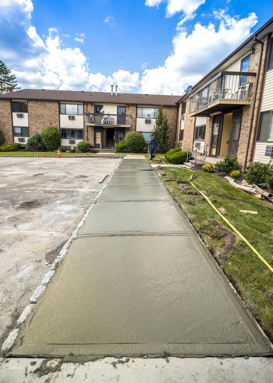 Concrete Walkway In Woodbridge, NJ. - After Photo
