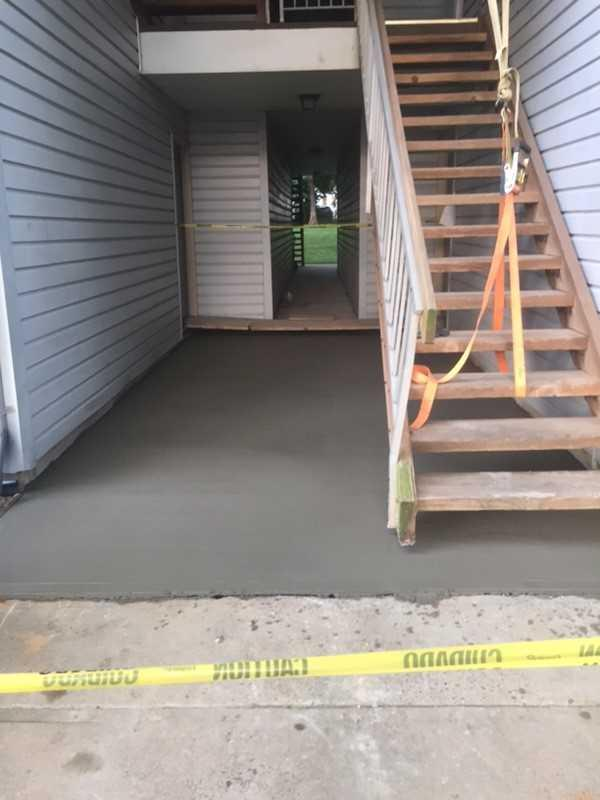 Concrete Delivery In East Brunswick, NJ. - After Photo
